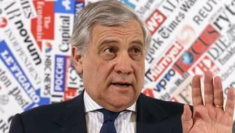 EU-Parlamentspräsident Antonio Tajani hat mit Äusserungen zu Mussolini für Verwirrung gesorgt. (Archivbild)
