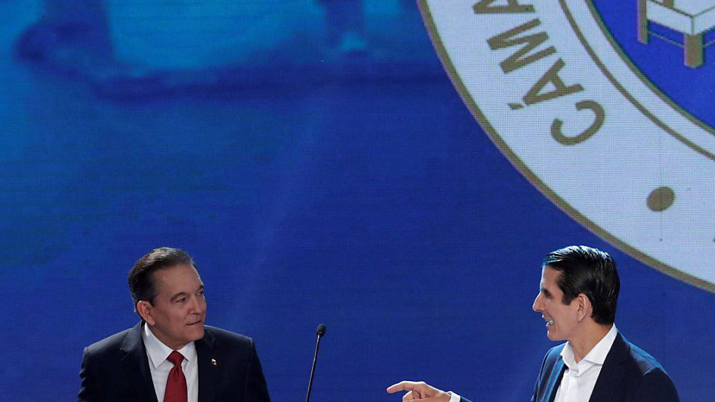 Bei der Wahl um das Präsidentenamt in Panama feiert nach Auszählung von über 95 Prozent der Stimmen der Sozialdemokrat Laurentino Cortizo (links) einen knappen Sieg gegenüber Rómulo Roux (rechts). (Archivbild)