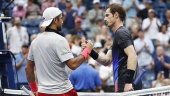 Andy Murray (rechts) bestritt am US Open in New York sein erstes Grand-Slam-Turnier seit mehr als einem Jahr
