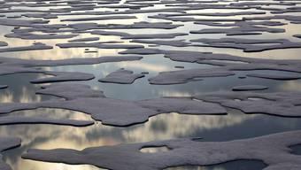 Schmelzendes Meereis in der kanadischen Arktis. Diesen Sommer ist erst zum zweiten Mal seit Beginn der satellitengestützten Erfassung die Meereisfläche in der Arktis unter vier Millionen Quadratkilometer gesunken. (Archivbild)