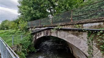 Die Seetalbahnbrücke über den Aabach ist eine der ältesten Schweizer Betonbrücken. Emanuel Freudiger