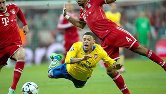 Arsenal (Bild: Oxlade-Chamberlain) fliegt aus der Champions League