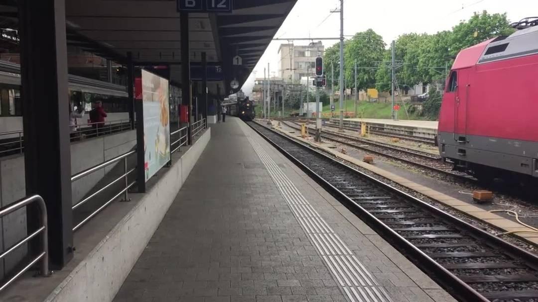 Da staunen die anderen Lokführer: Der «Habersack» fährt in Basel ein.