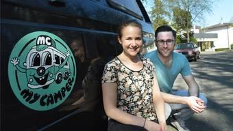 Mirjam Affolter und Michele Matt wollen die private Camper-Vermietung fördern. Ihr Unternehmen «MyCamper» bietet auf dem Internet eine Sharing-Plattform an.