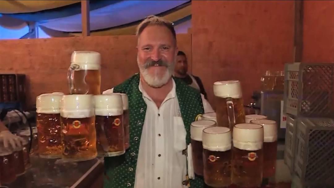 Münchner Masskrug-Stemmer schafft 26 – dreimal mehr als Stargast Bligg