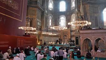 Erst Kirche, dann Moschee, ab 1934 Museum, seit Freitag wieder Moschee: die Hagia Sophia.