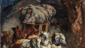 """Rudolf Kollers """"Gotthardpost"""", eine Ikone der Schweizer Kunst, gelangt Mitte Juni in der Berner Galerie Kornfeld zur Auktion."""