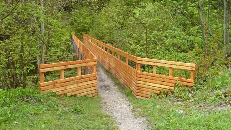 Der sanierte «Lange Steg», ein attraktiver Ausgangsort zum Holzweg.