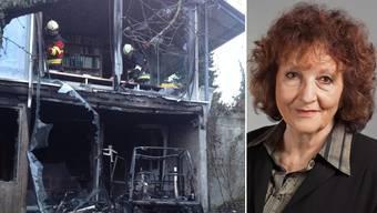 Bea Heim hatte das Feuer anfänglich selbst zu löschen versucht.