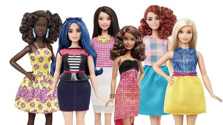 Neue Körperformen: Barbiepuppen im neuen Look. (Archiv)