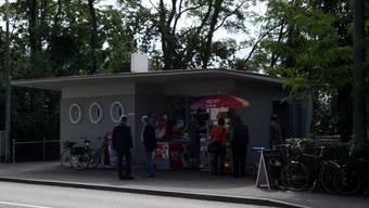 Ein Hingucker: Das Kioskhäuschen steht unter Denkmalschutz.  Jho