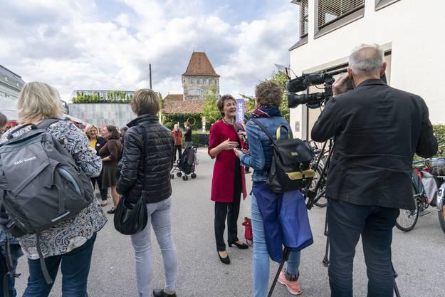 Weitere Impressionen vom SP Wahlfest auf dem Aarauer Schlossplatz.