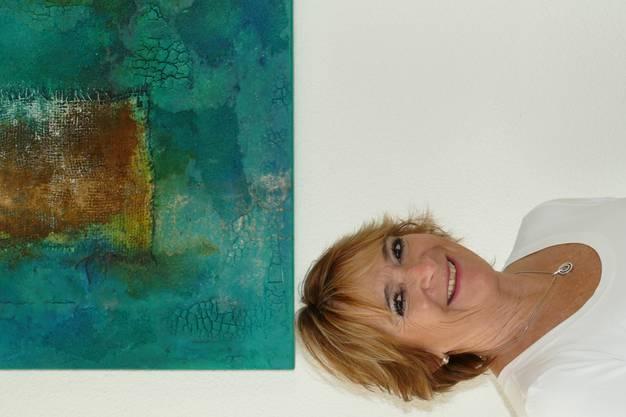 Ruth Moser zeigt eine Auswahl ihrer Acryl-Kunstwerke