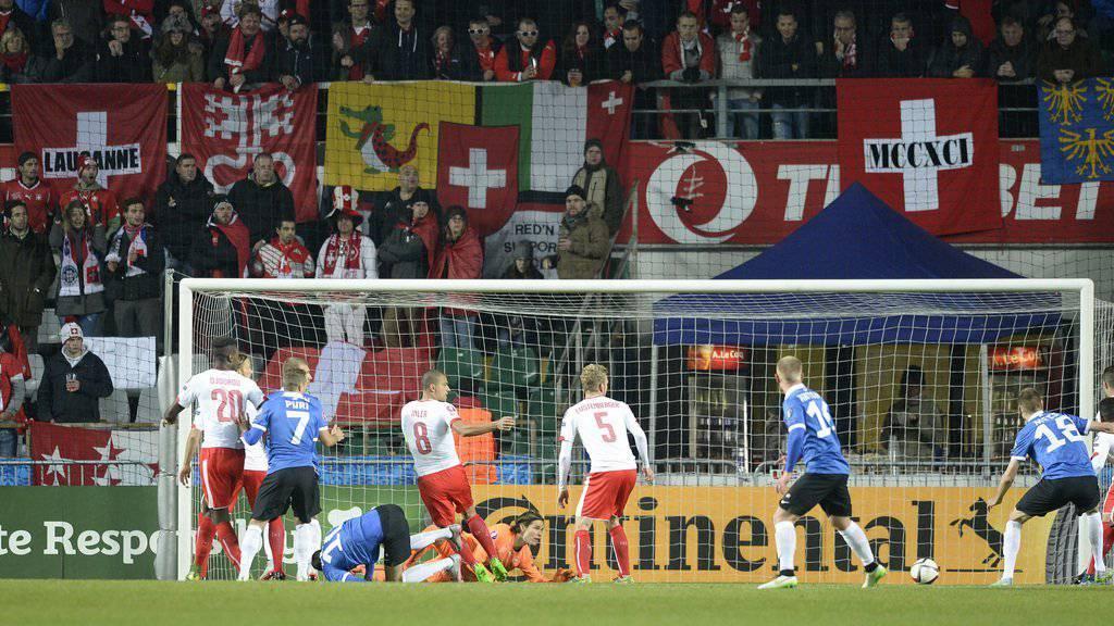 Das letzte Spiel der Schweiz in der EM-Qualifikationsphase. (KEYSTONE/Georgios Kefalas)