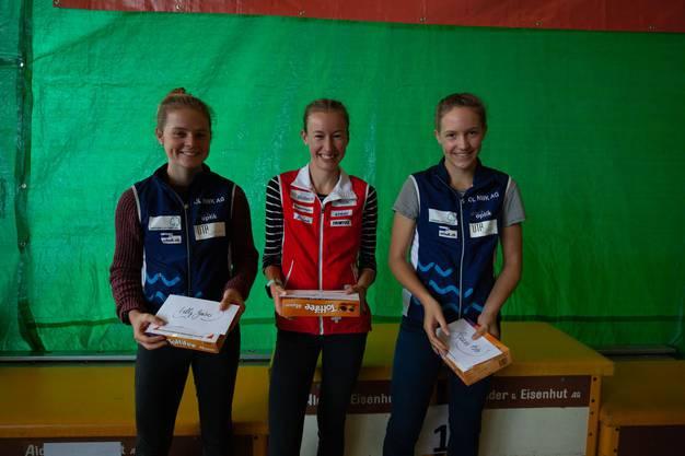 Erfolgreiches Aargauer Trio:Lilly Graber, Eline Gemperle u. Sanna Hotz (v.l.)