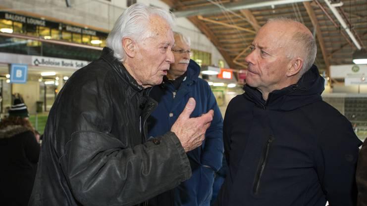 Tino Catti im Gespräch mit Oltens Stadtpräsident Martin Wey