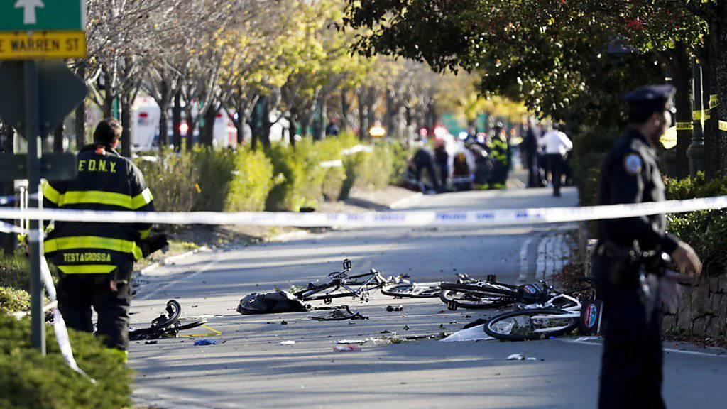 Die Staatsanwaltschaft fordert für einen Usbeken, der zahlreiche Menschen bei einem Anschlag in New York getötet hat, die Todesstrafe. (Archvibild)