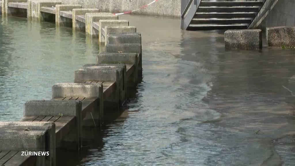 Hochwasser: Pegel sinken langsam – ausser am Zürichsee