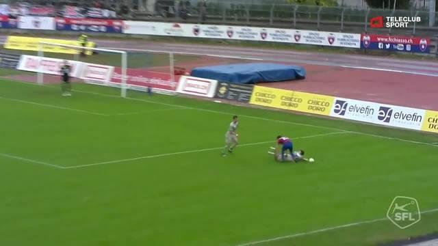 FC Chiasso - FC Aarau: 76. Minute, Facundo Batista, 2:1