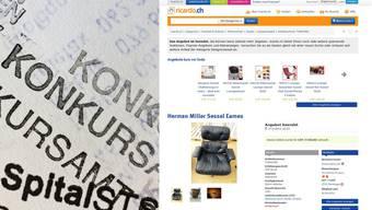 Irgendwo freut sich ein Gläubiger: Zwei vom Konkursamt angebotene Eames-Sessel haben auf Ricardo über 7000 Franken eingebracht.
