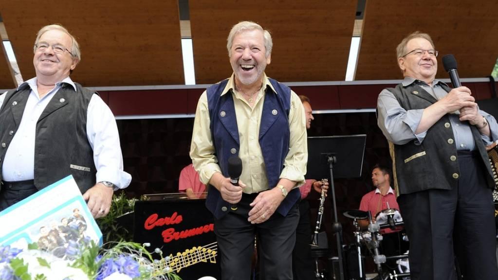 Guido Eugster (rechts), das älteste Mitglied der Musikgruppe Trio Eugster, ist am Karsamstag im Alter von 84 Jahren gestorben.