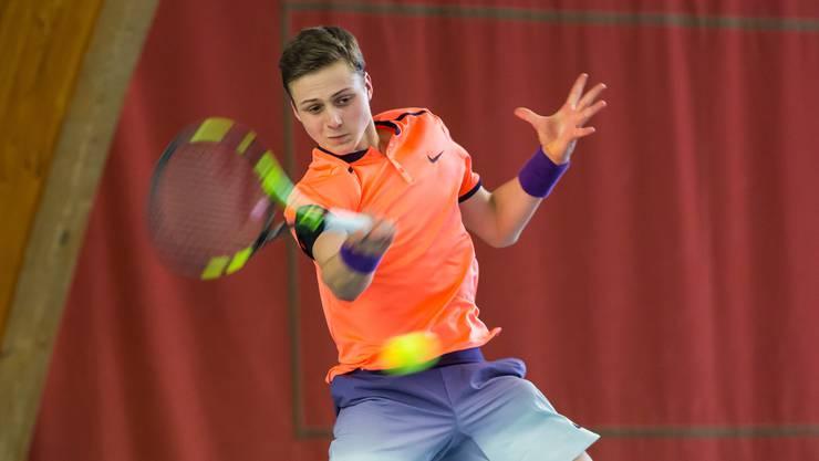 Der Hägendorfer Mischa Lanz erreicht erstmals die Top 300 in der Juniorenweltrangliste.