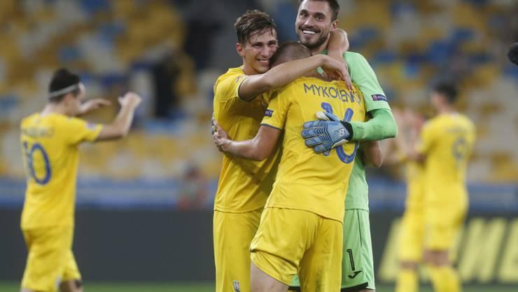 Die Ukrainer kamen auch dank Goalie Georgi Buschtschan zum Heimsieg gegen Spanien
