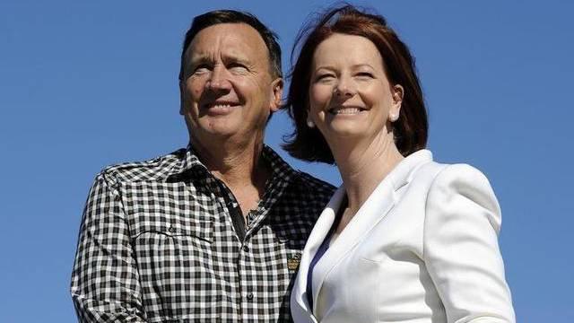 Tim Mathieson und Julia Gillard (Archiv)