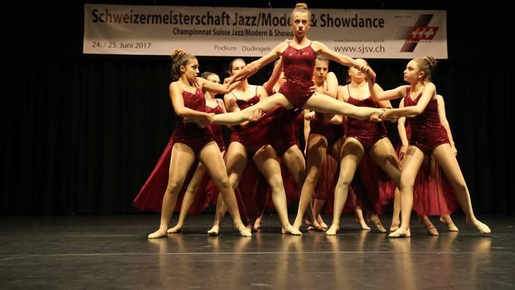 2.Platz für die Unique Dancers in der Kategorie Modern Dance