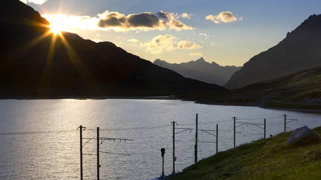 Blick auf den Lago Bianco im Puschlav (Archiv)