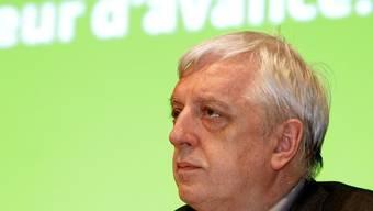 Der Präsident der Grünen, Ueli Leuenberger, an der Parteiversammlung