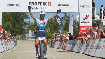 Überzeugt am Bikefestival Basel in Muttenz: Siegerin und Publikumsmagnet Jolanda Neff.