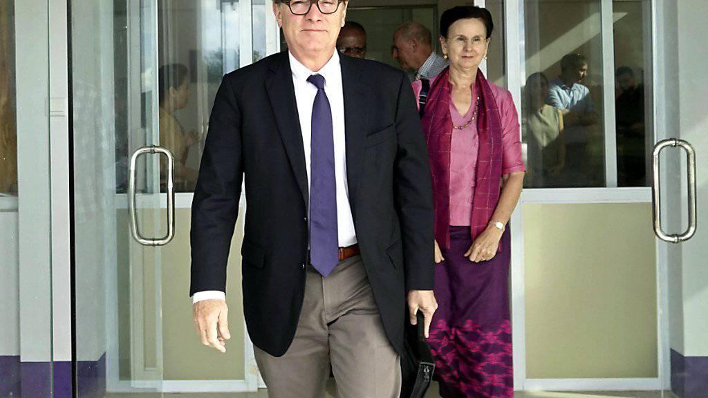 UNO-Untergeneralsekretär Jeffrey Feltman reist zu Gesprächen ins kommunistische Nordkorea. Ein Treffen mit Machthaber Kim Jong Un ist derzeit aber nicht geplant. (Archivbild)