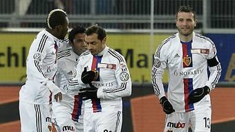 Alex Frei freut sich über seinen Treffer zum 1:0 für den FC Basel