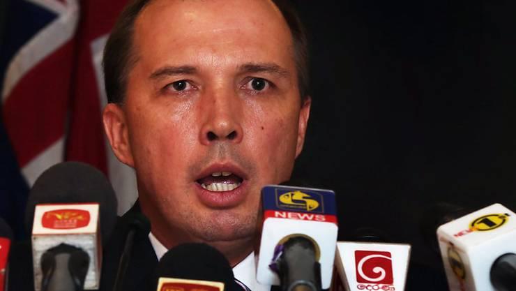 """Einwanderungsminister Peter Dutton feierte ein Jahr ohne einen einzigen """"illegalen Ankömmling"""", wie die australische Regierung Bootsflüchtlinge nennt. (Archiv)"""