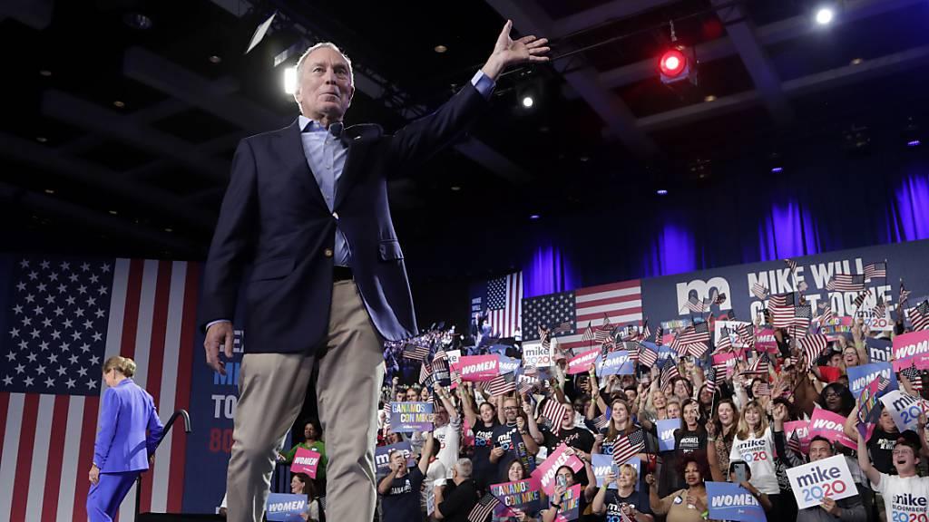 Vorwahlen: Grosser Erfolg für Biden - Bloomberg steigt aus