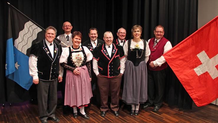 Der Vorstand (v.l.): Bruno Vaterlaus, Dany Brändli, Silvia Meister, Thomas P. von Arx, Hansruedi Zihlmann, Robert Füglistaller, Karin Ramseyer, Patrik Noser.