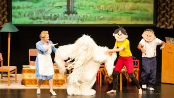 Schauspielerin und Sängerin Fabienne Hadorn ,«Fantoche» sowie die polnischen Trickfilmfiguren Lolek undBolek führten durch die unterhaltsame Fantoche-Eröffnungsfeier. Sandra Ardizzone