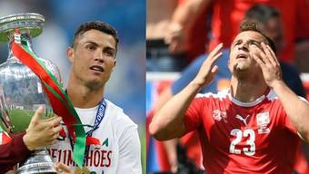 Europameister Cristiano Ronaldo und Nati-Star Xherdan Shaqiri.