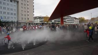 Der Stadtplatz in Schlieren wird feierlich eingeweiht