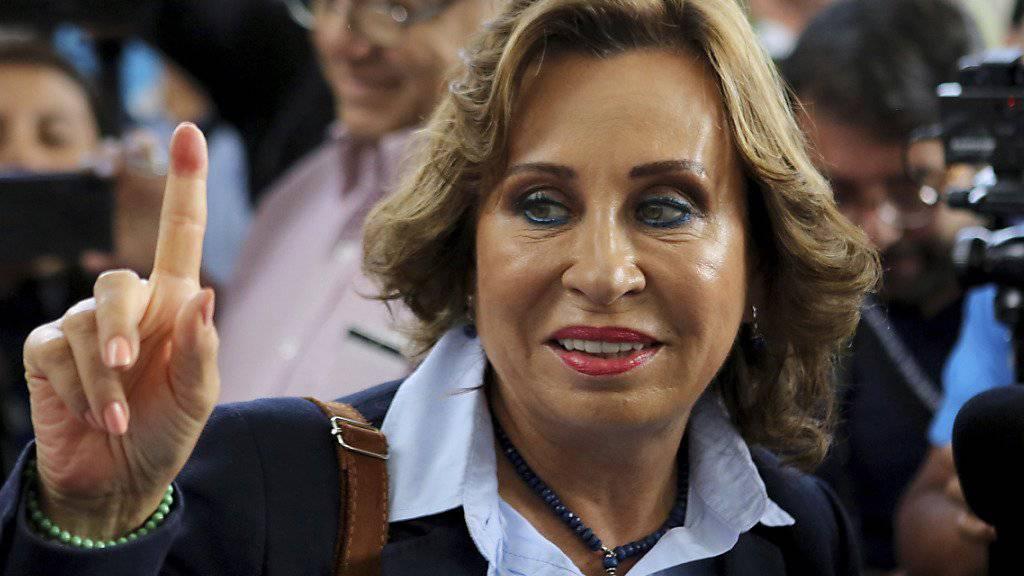 Die Mitte-Links-Kandidatin Sandra Torres hat gute Chancen, erste Präsidentin von Guatemala zu werden.