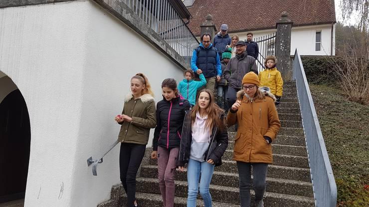 Start bei der Kirche Thalheim