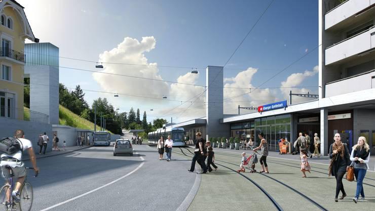 Visualisierung der Limmattalbahn: Killwangen_Bahnhof.