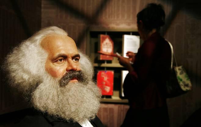 Karl Marx ist auch im Wachsfigurenkabinett von Madame Tussauds in Berlin vertreten.