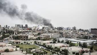 Blick über Erbil, der kurdischen Metropole im Nordirak. Die irakischen Kurden sollen im September über ihre Unabhängigkeit abstimmen. (Archiv)