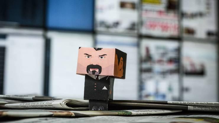 So könnte das aussehen: Papp-Luc im Newsroom der Aargauer Zeitung