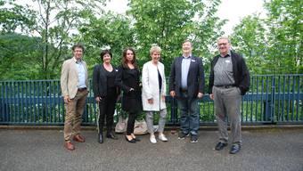 Der SRK-Vorstand im Bild (v.l.) René Spahr (Geschäftsführer); Nancy Savoldelli (Vizepräsidentin); Alexandra Denise Kämpf (Finanzen); Sonja Leuenberger; Arthur Haefliger (Präsident); Mark A. Herzig. Nicht auf dem Bild Hubert Bläsi.