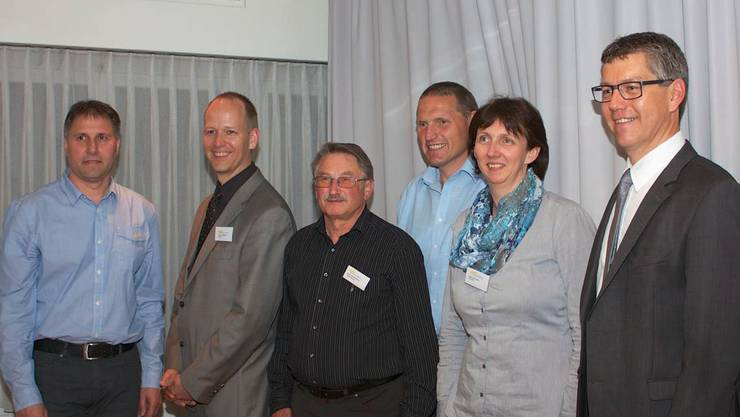 Vorstand der Elektra Sins (von links): Thomas Villiger, Roger Widmer, Kurt Steinemann, Koni Gut, Gaby Burkart und Albert Amstutz.