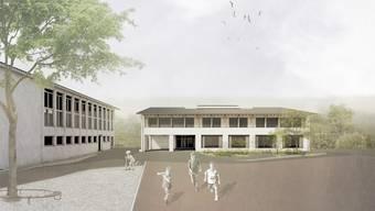 So soll das geplante Schulhausen aussehen.