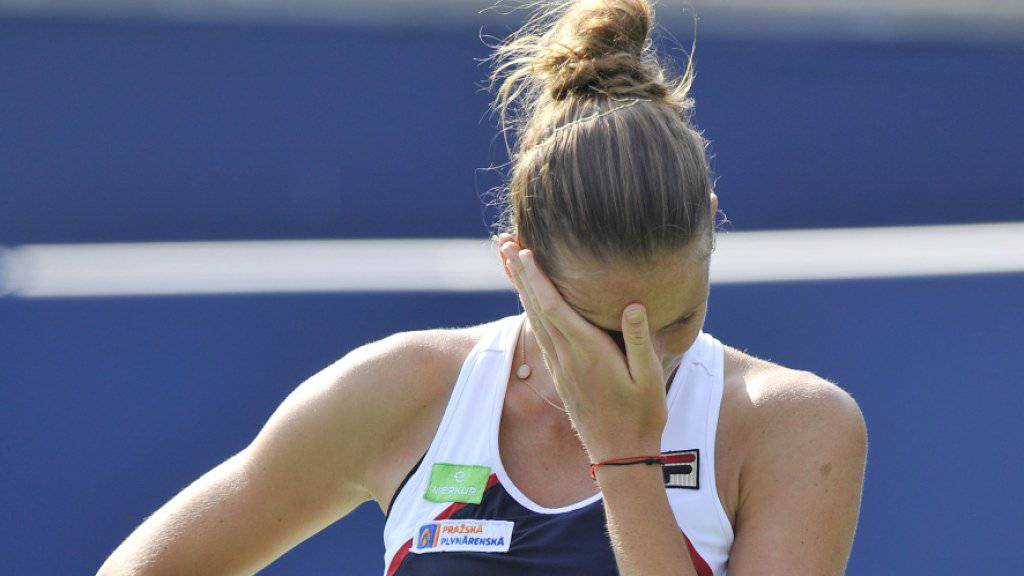 Die Weltranlgisten-Erste Karolina Pliskova schied im Viertelfinal von Toronto aus